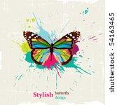 stylish butterfly design | Shutterstock .eps vector #54163465