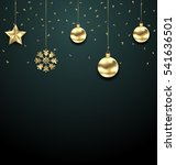illustration christmas golden... | Shutterstock .eps vector #541636501