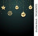 illustration christmas golden... | Shutterstock .eps vector #541636501