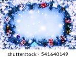 frame. toned image. christmas... | Shutterstock . vector #541640149