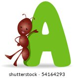 A for Ant - Vector - stock vector