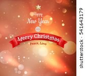 christmas landscape poster. eps ... | Shutterstock .eps vector #541643179