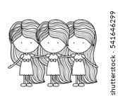 isolated girl cartoon design | Shutterstock .eps vector #541646299