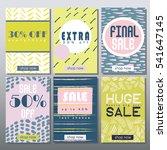 set of artistic mobile sale... | Shutterstock .eps vector #541647145