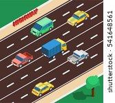 highway concept. highway... | Shutterstock . vector #541648561
