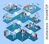 hospital isometric infographics ... | Shutterstock . vector #541648729