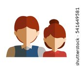 isolated woman and man design | Shutterstock .eps vector #541649581
