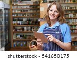 portrait of delicatessen owner... | Shutterstock . vector #541650175