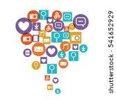 social media and multimedia... | Shutterstock .eps vector #541652929