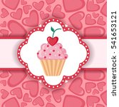 cute background with cupcake...   Shutterstock .eps vector #541653121
