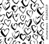 abstract seamless heart pattern.... | Shutterstock .eps vector #541654219