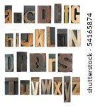 complete letterpress high... | Shutterstock . vector #54165874