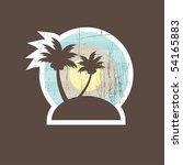 Tropical Beach Banner. Vector...