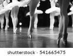 graceful ballerinas feet... | Shutterstock . vector #541665475