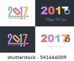 2017 numbers concept happy new...   Shutterstock .eps vector #541666009