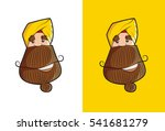 Cool Sikh Sardaar Face With...