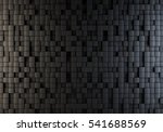 black cubes randomly pushed out ... | Shutterstock . vector #541688569