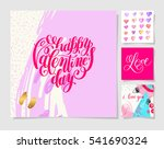 four pieces blank sheet of... | Shutterstock .eps vector #541690324