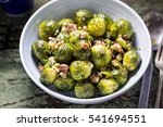roasted brussel sprouts with... | Shutterstock . vector #541694551