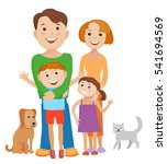 fun cartoon family in colorful... | Shutterstock .eps vector #541694569