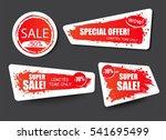 set of sale  discount stickers... | Shutterstock .eps vector #541695499