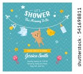 baby shower card. invitation... | Shutterstock .eps vector #541698811