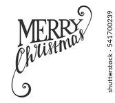 hand written calligraphic... | Shutterstock .eps vector #541700239