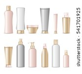 realistic cosmetic bottles on... | Shutterstock .eps vector #541701925