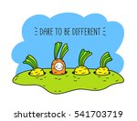 dare to be different. baby... | Shutterstock .eps vector #541703719