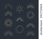 set of vintage sunbursts in... | Shutterstock .eps vector #541713424
