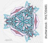 ethnic decorative element. hand ... | Shutterstock .eps vector #541720681