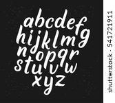 vector alphabet. brush... | Shutterstock .eps vector #541721911