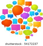 collection of colorful speech... | Shutterstock .eps vector #54172237