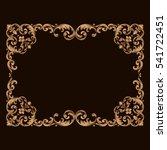 gold vintage baroque ornament... | Shutterstock .eps vector #541722451