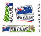 vector logo new zealand  3... | Shutterstock .eps vector #541723414