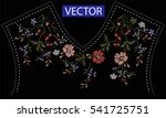embroidery ethnic flowers neck... | Shutterstock .eps vector #541725751