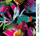 exotic jungle summer print ... | Shutterstock .eps vector #541726171
