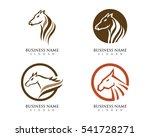 horse logo template vector | Shutterstock .eps vector #541728271