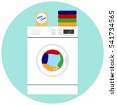 washing machine  to wash... | Shutterstock .eps vector #541734565