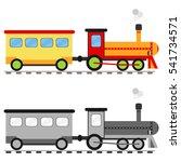 cartoon train  icon cartoon...   Shutterstock .eps vector #541734571