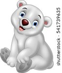 cartoon baby polar bear sitting   Shutterstock . vector #541739635