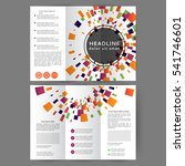 color tri fold business... | Shutterstock .eps vector #541746601