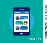 chatbot and human conversation... | Shutterstock .eps vector #541750009