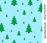 christmas trees pattern.... | Shutterstock .eps vector #541751599
