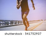 the man athlete runners jogging ... | Shutterstock . vector #541752937