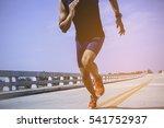 the man athlete runners jogging ... | Shutterstock . vector #541752937