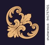 gold vintage baroque ornament... | Shutterstock .eps vector #541757431