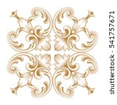 gold vintage baroque ornament... | Shutterstock .eps vector #541757671