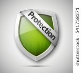 protection shield concept with... | Shutterstock .eps vector #541758271