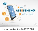 assessment concept and... | Shutterstock .eps vector #541759009